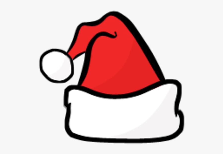 Santa Hat Clipart Black And White - Christmas Clipart Santa Hat, Transparent Clipart