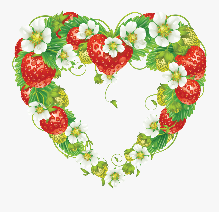 Strawberry Frame Png, Transparent Clipart