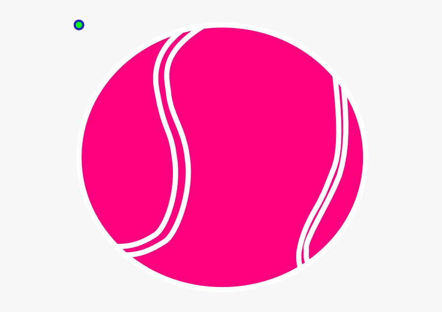 Clip Art Tennis Ball Pink, Transparent Clipart