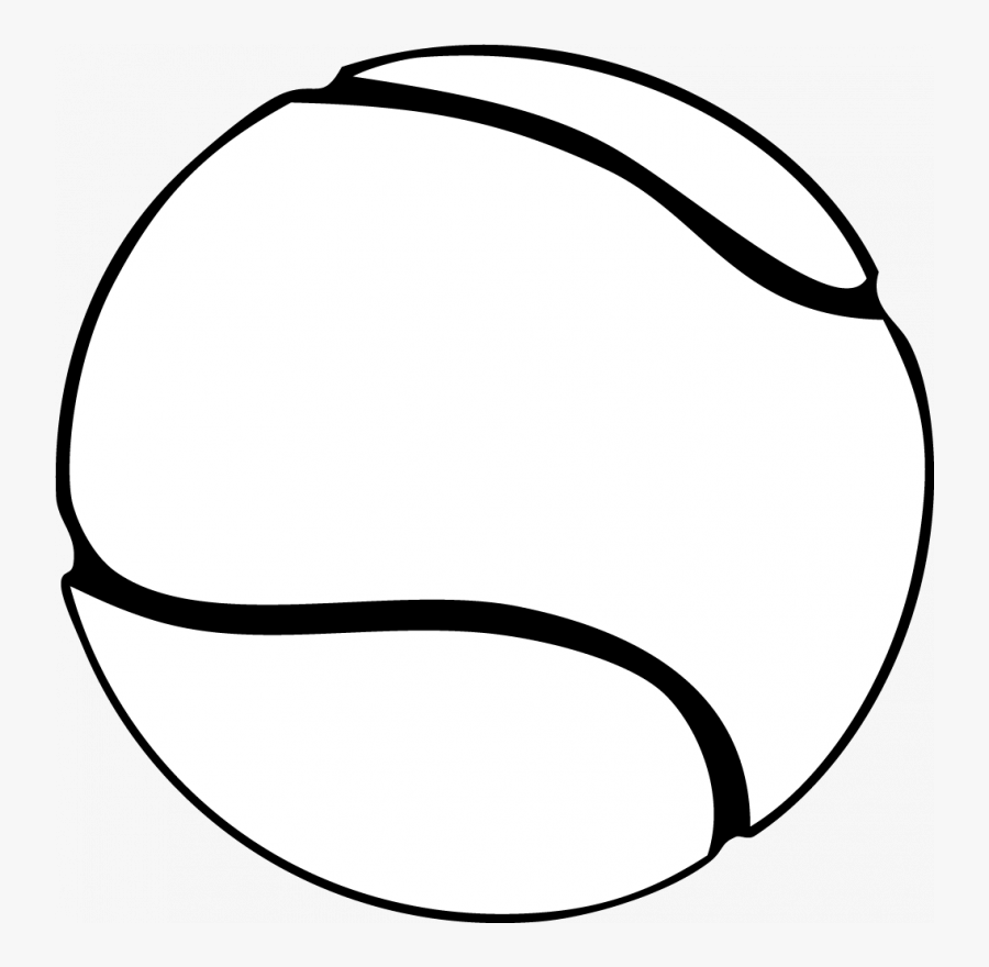 Tennis Ball Pictures Clip Art - Tennis Ball Clipart Black And White, Transparent Clipart