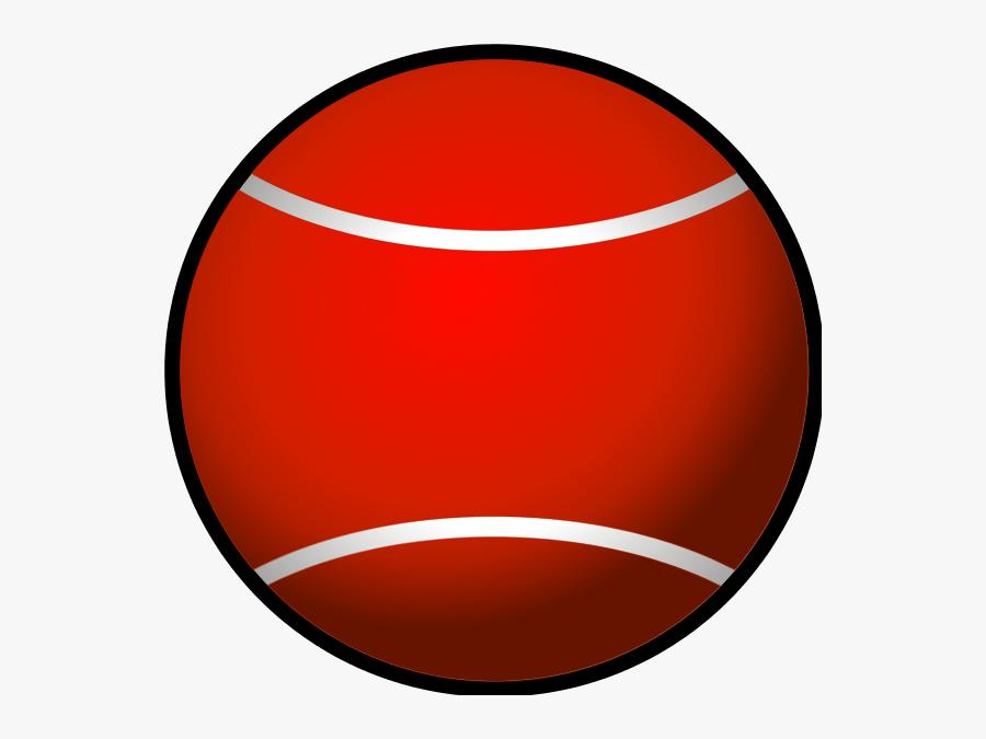 Tennis Ball Simple Vector Clip Art - Red Tennis Ball Png, Transparent Clipart