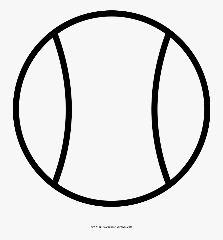 Tennis Ball Coloring Page - Tennis Ball Clipart Black And White, Transparent Clipart