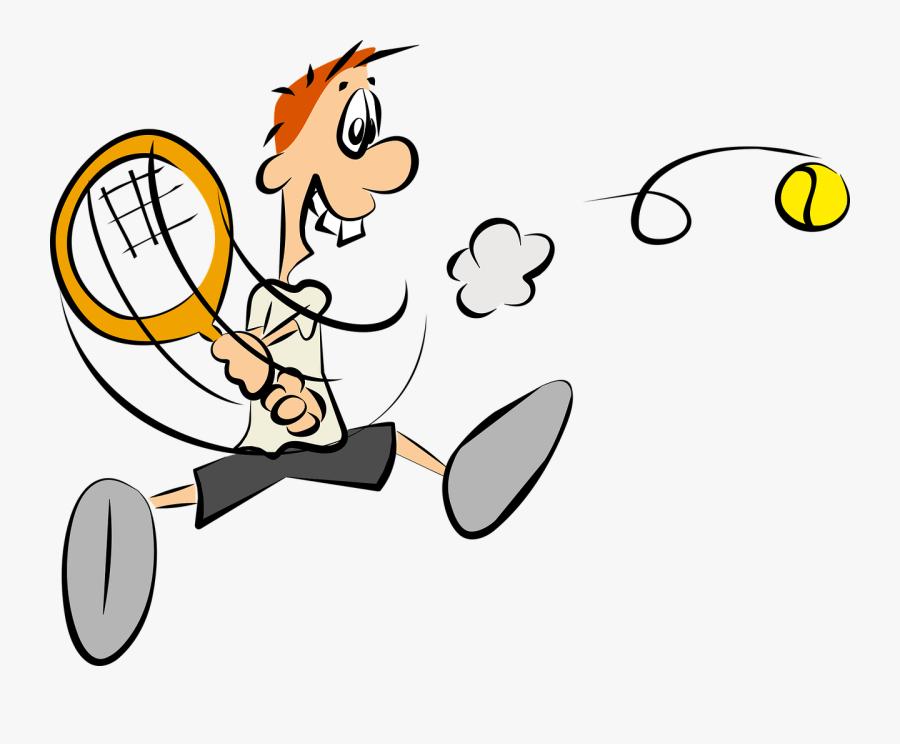 Transparent Tennis Ball Clipart - Tennis Player Cartoon, Transparent Clipart