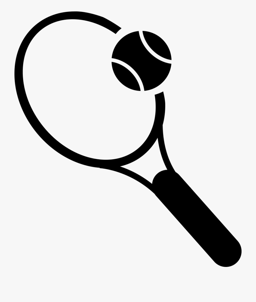 Racket And Tennis Ball - Tennis Clip Art Png, Transparent Clipart