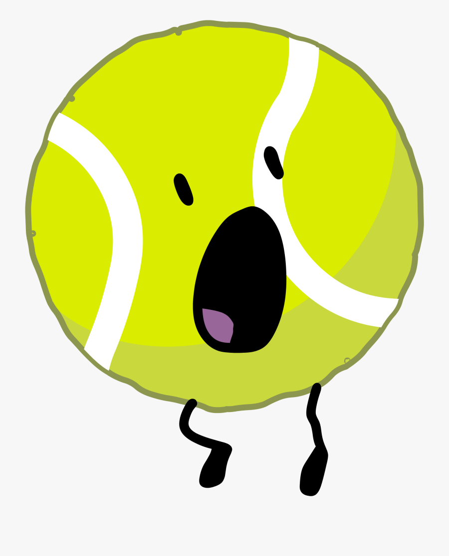 Battle For Dream Island Wiki - Tennis Ball From Bfb, Transparent Clipart