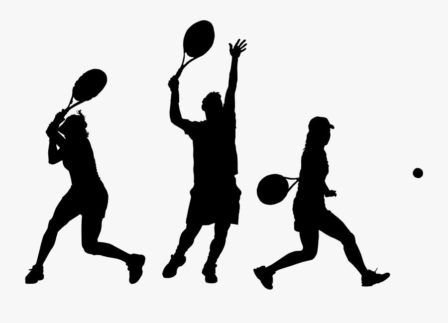 Human Behavior,recreation,ball - Tennis Player Silhouette Png, Transparent Clipart