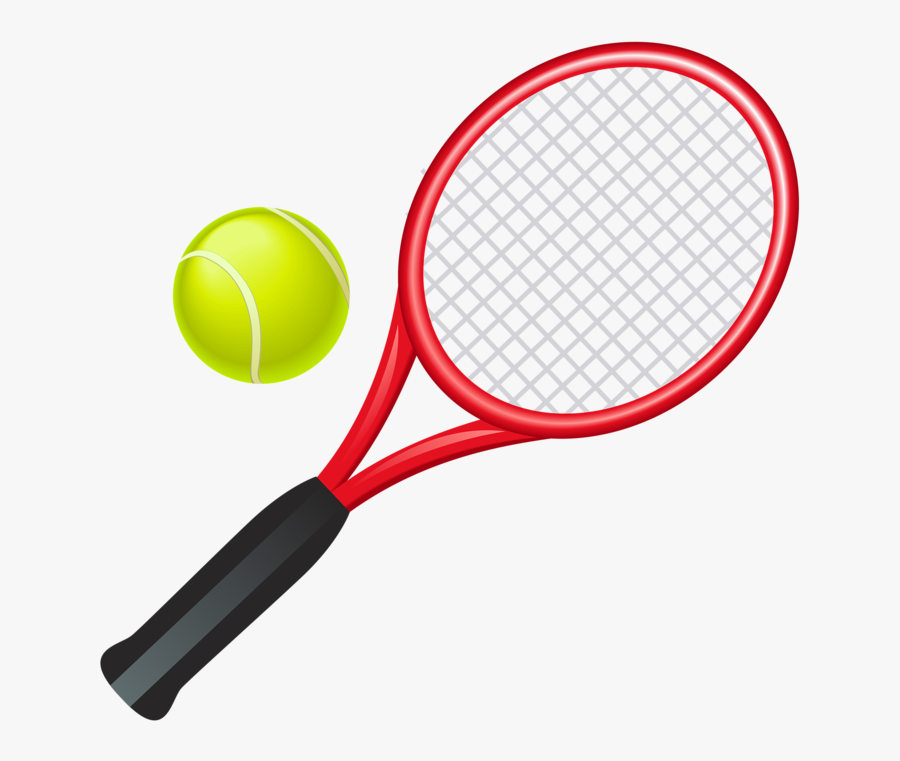 Clipart Family Tennis - Cartoon Tennis Racket And Ball, Transparent Clipart