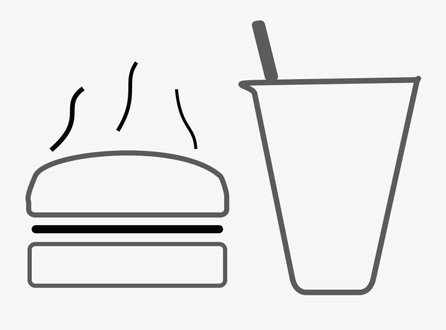 Cooldrinks And Snacks Icons Png - Line Art, Transparent Clipart
