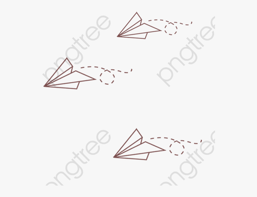 Paper Airplane Clipart Simple - Drawing, Transparent Clipart