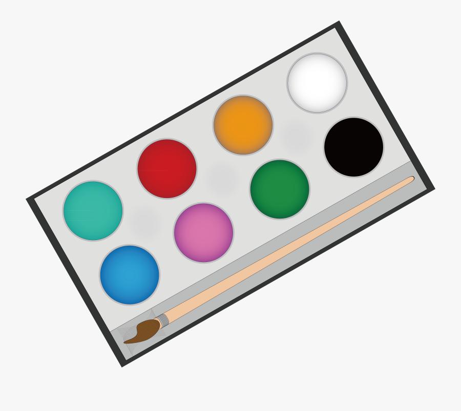 Paintbrush Clipart Painting Material - Watercolor Palette Paint Png, Transparent Clipart