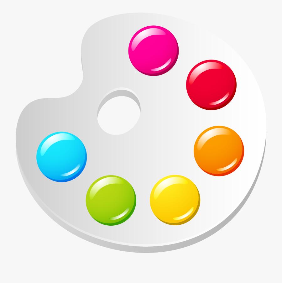 Paint Colors Palette Png Image - Transparent Colour Palette Png, Transparent Clipart