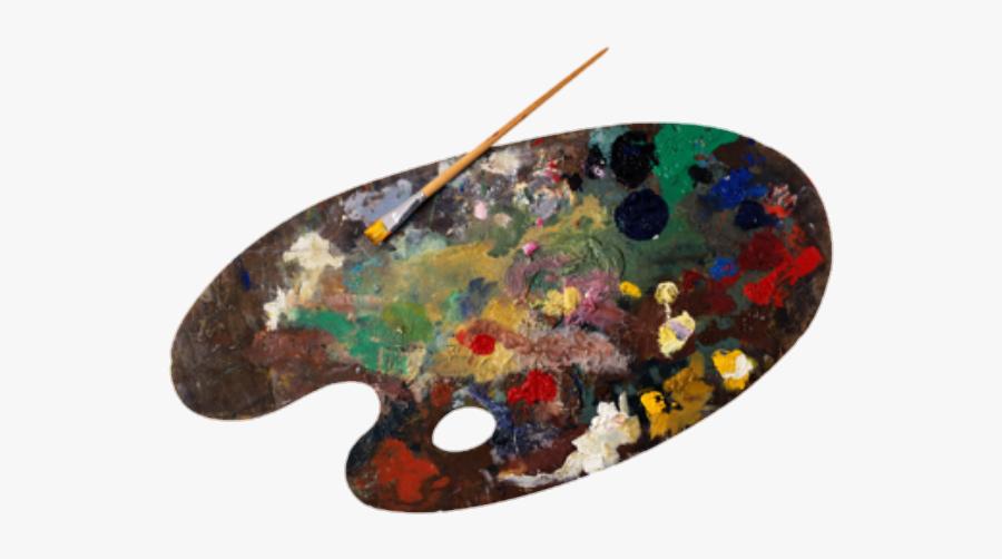 Palette Oil Portable Brushes Paint Graphics Painting - Paint Palette Png, Transparent Clipart