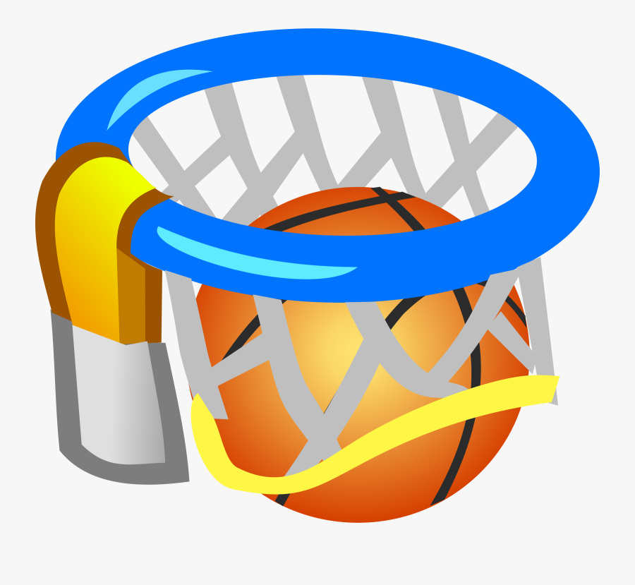 Clipart - Basketball Picture - Ball In The Net Clipart, Transparent Clipart