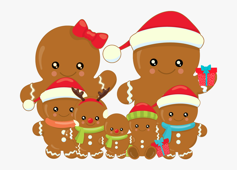 Gingerbread Clipart Gingerbread Family - Clipart Clipart Gingerbread Family, Transparent Clipart