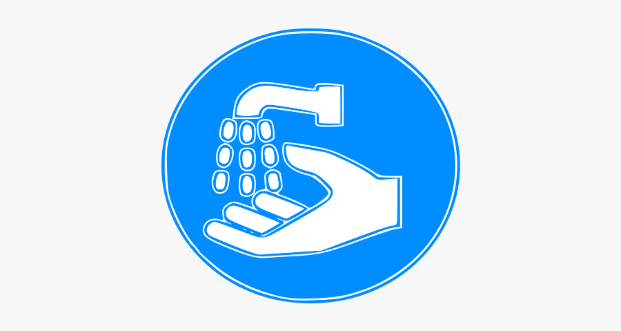 Hand Wash Sign - Wash Your Hands Sign, Transparent Clipart
