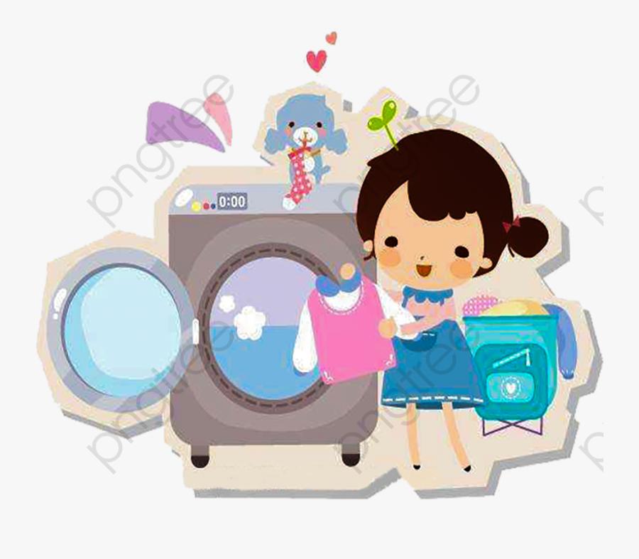 Wash Hands Clipart Cartoon Character Washing Maquina Lavar Roupa