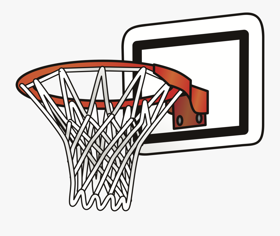 Line Hoop - Basketball Ring Clip Art, Transparent Clipart