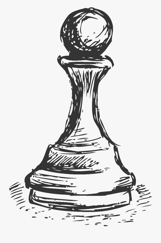 Sketch Pawn Transprent Gambar Sketsa Pion Catur Free