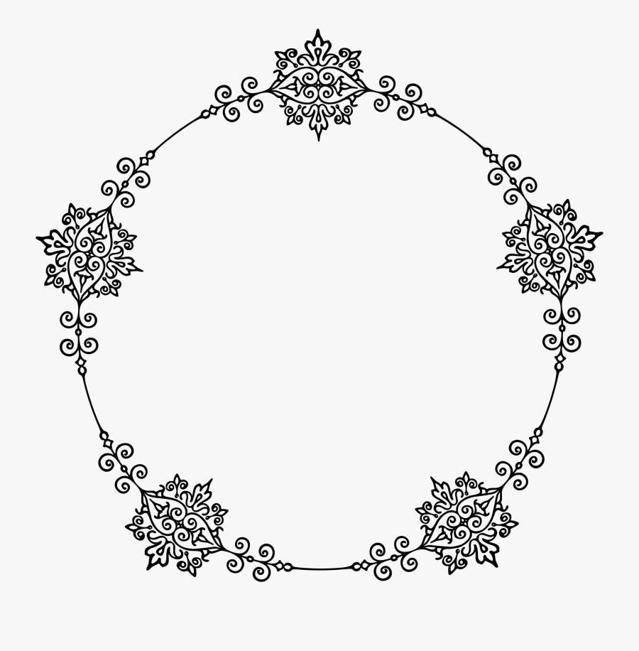 Divider 211 Frame Clip Arts - Circle, Transparent Clipart