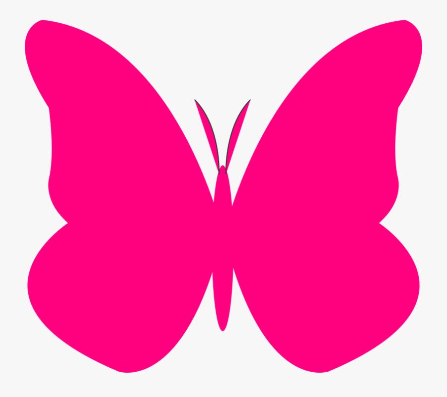 Transparent Mariposas Vector Png - Pink Butterfly Clip Art, Transparent Clipart