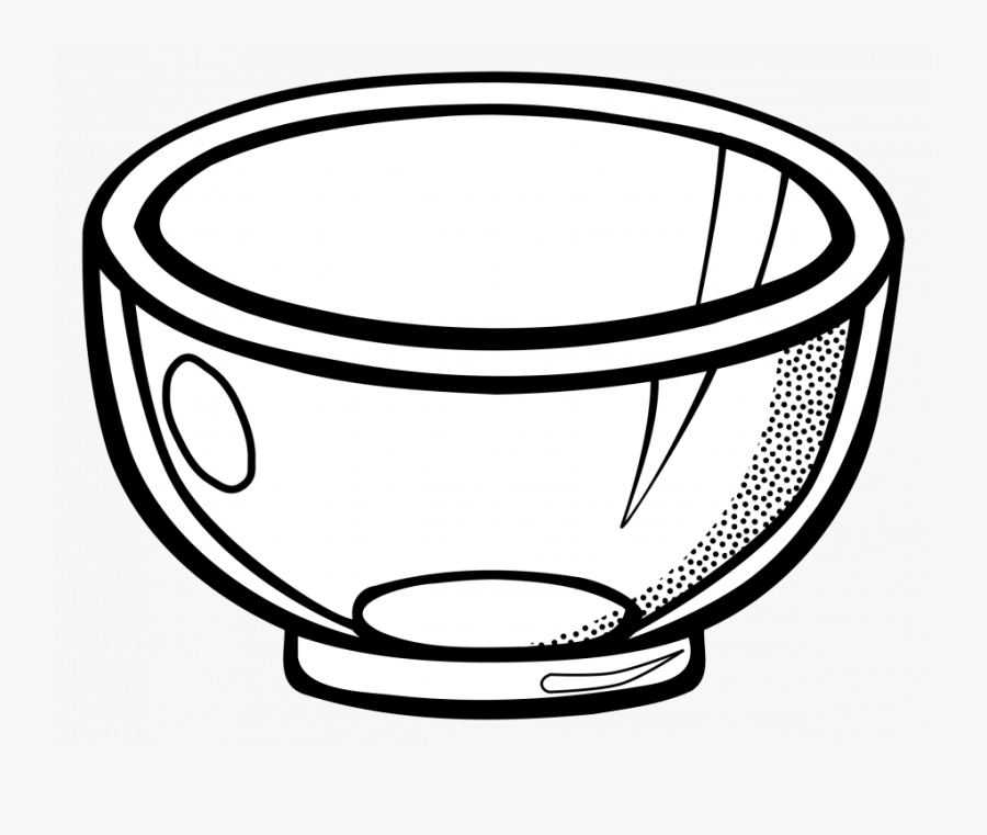 Glass Bowl Clipart Black And White, Transparent Clipart