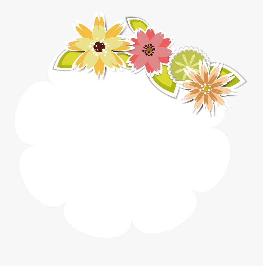 Clip Art Cute Flower Pattern - Message Design Floral, Transparent Clipart