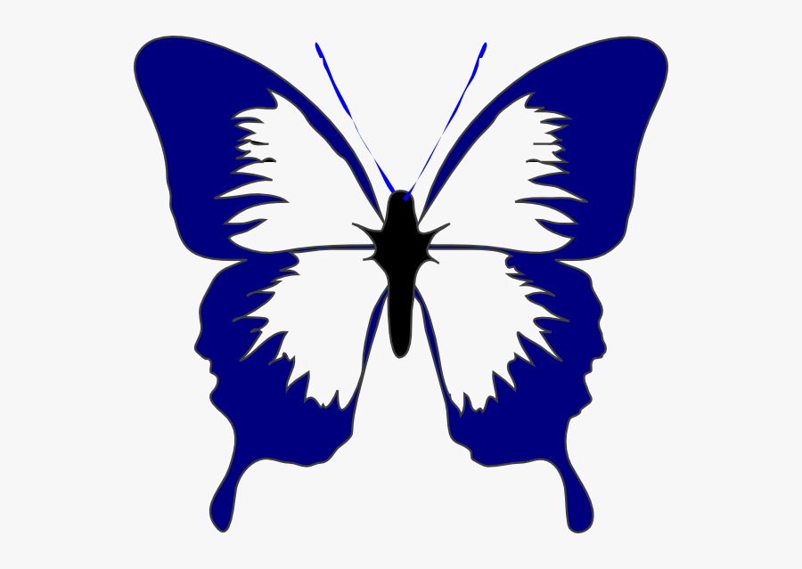 Butterfly Clipart Tshirt - Butterfly Cartoon Black And White, Transparent Clipart