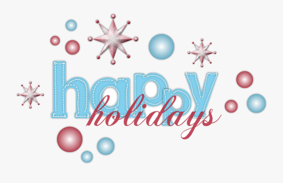 Holiday Most Amazing Happy Holidays Wish Pictures And - Blue Happy Holidays Clipart, Transparent Clipart