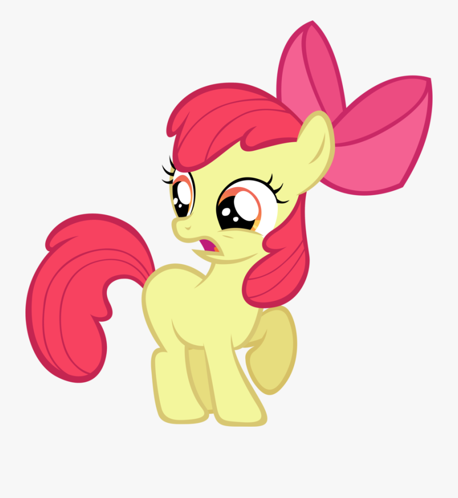 Apple Bloom Gasp By Lilcinnamon - Cutie Mark Crusaders Apple Bloom, Transparent Clipart