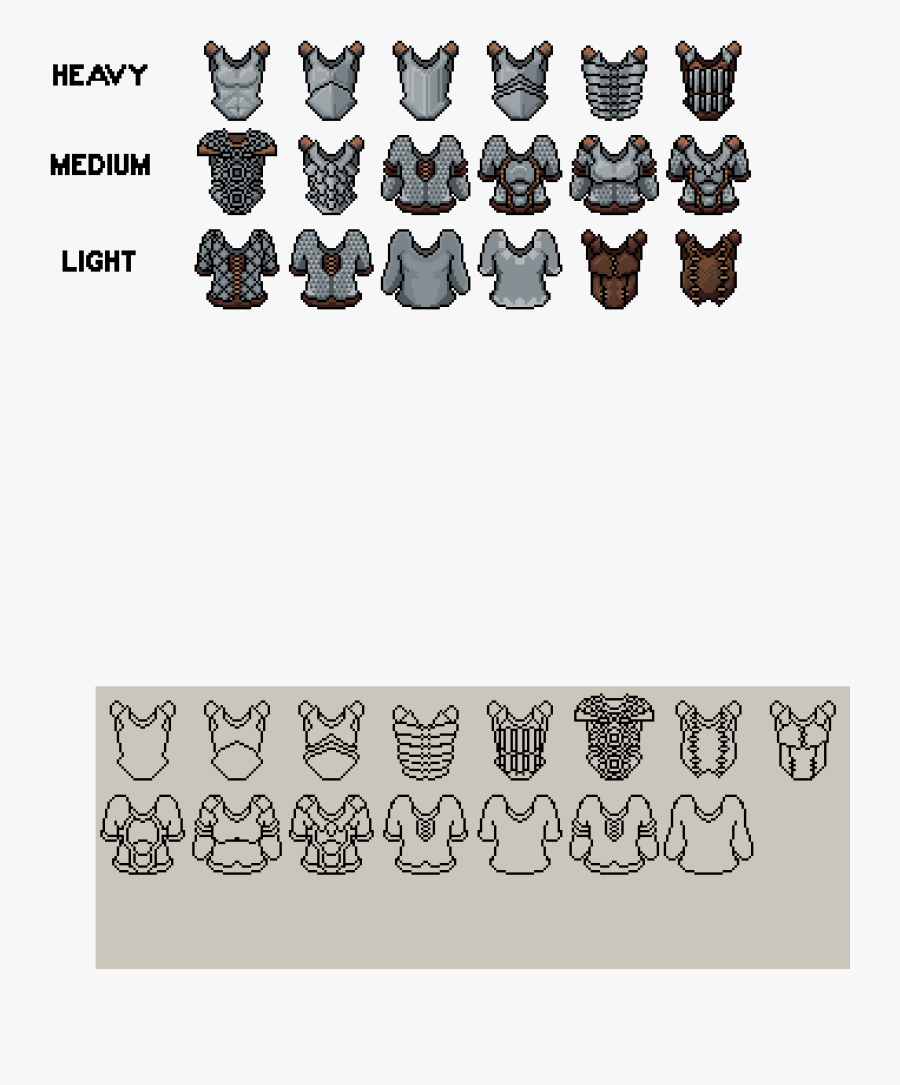 Pixel Art Plate Armor Free Transparent Clipart Clipartkey