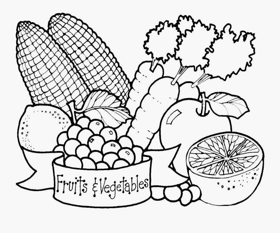 Transparent Vegetable Png - Fruits And Vegetables Drawing, Transparent Clipart