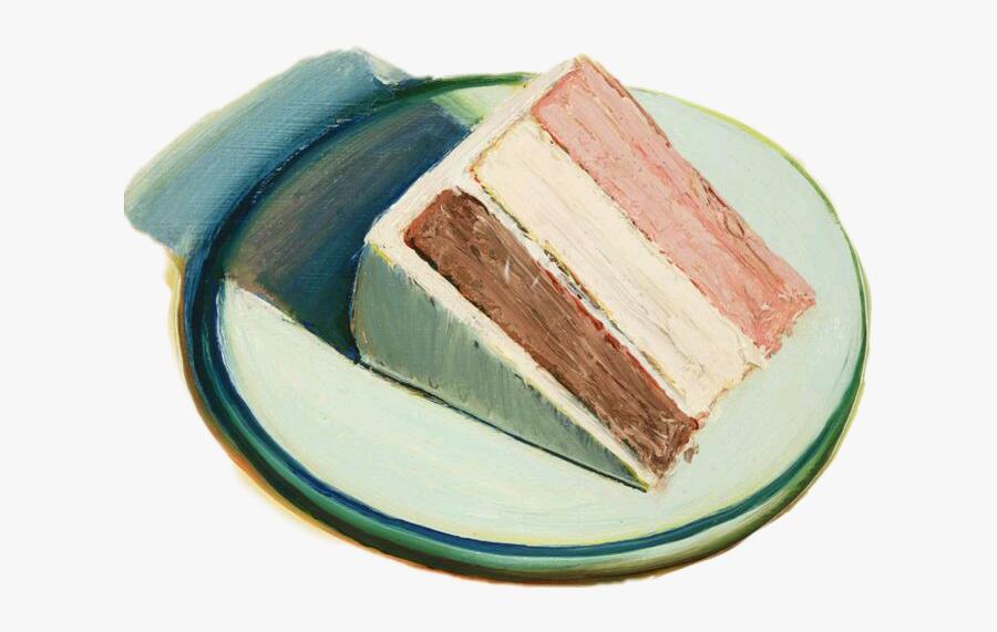 #cake #slice #scasliceof #asliceof #scpastel - Wayne Thiebaud Cake Slice, Transparent Clipart