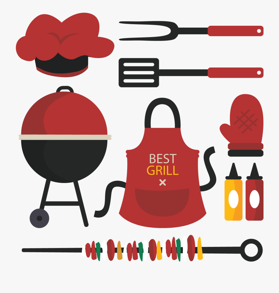 Barbecue Picnic Food Illustration - Food Illustration Bbq, Transparent Clipart
