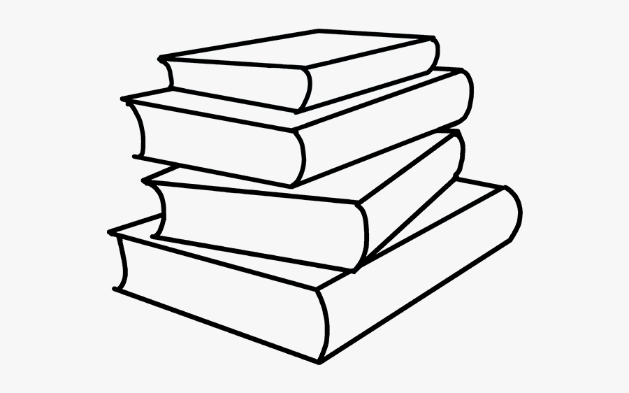 How To Draw School Books - Stack Of Books Easy Drawing, Transparent Clipart
