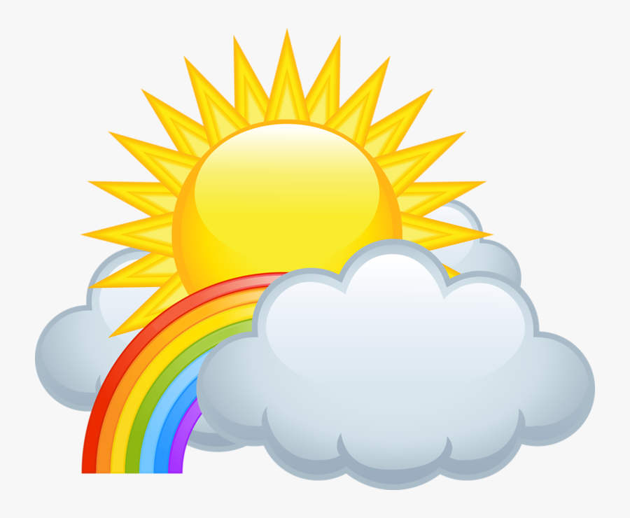 Transparent Entrevista Clipart - Sun With Rainbow Clipart, Transparent Clipart