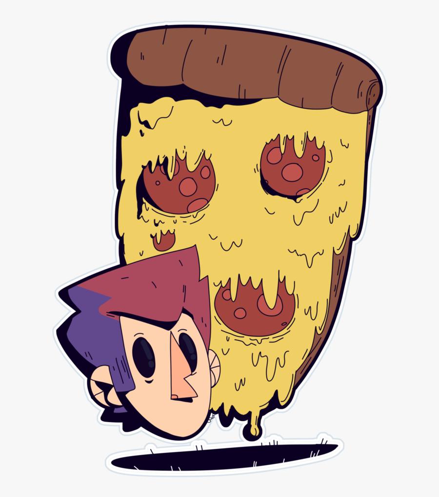 Pe Pe Pe Pepperoni Pizza By Bits Of Bots - Cartoon, Transparent Clipart