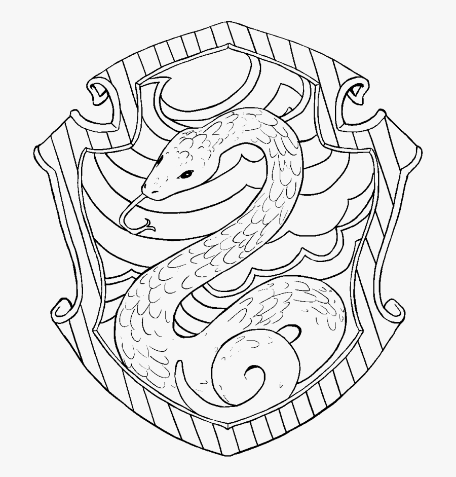 Slytherin Harry Potter Coloring Pages Free Transparent Clipart Clipartkey