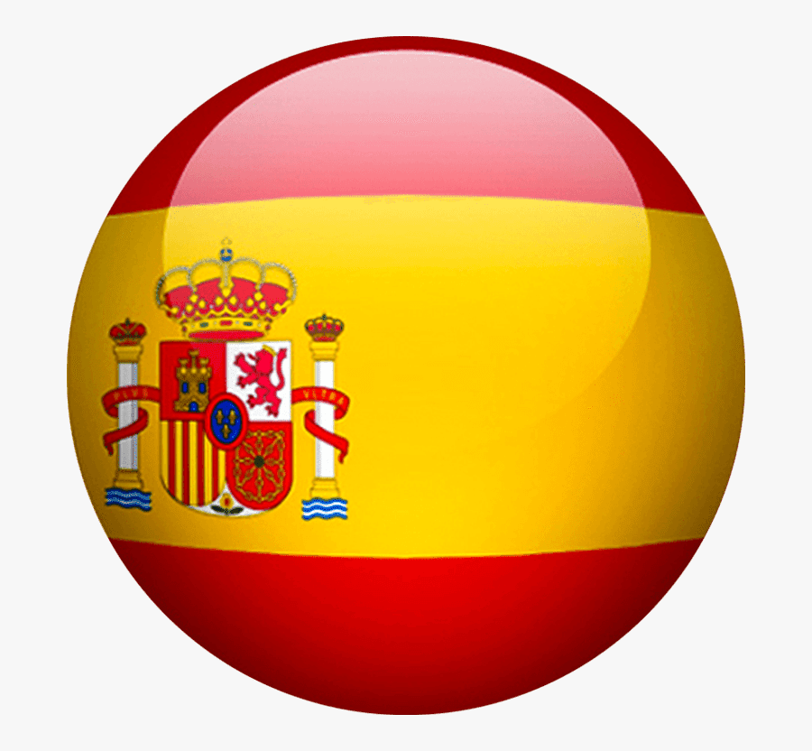 Spain Flag Circle Png, Transparent Clipart