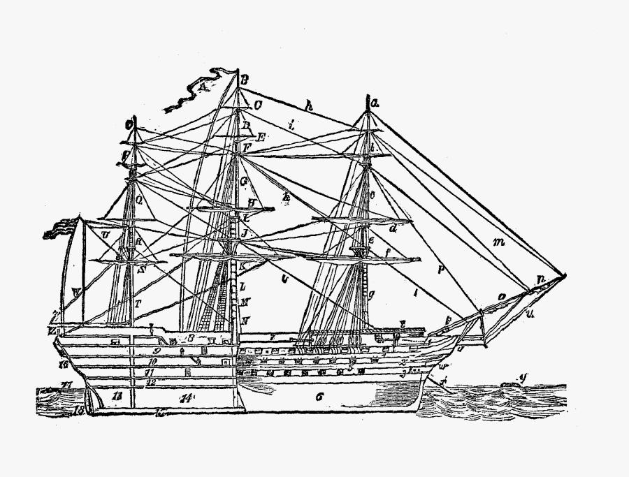 Digital Ship Clip Art Illustration - Clip Art, Transparent Clipart
