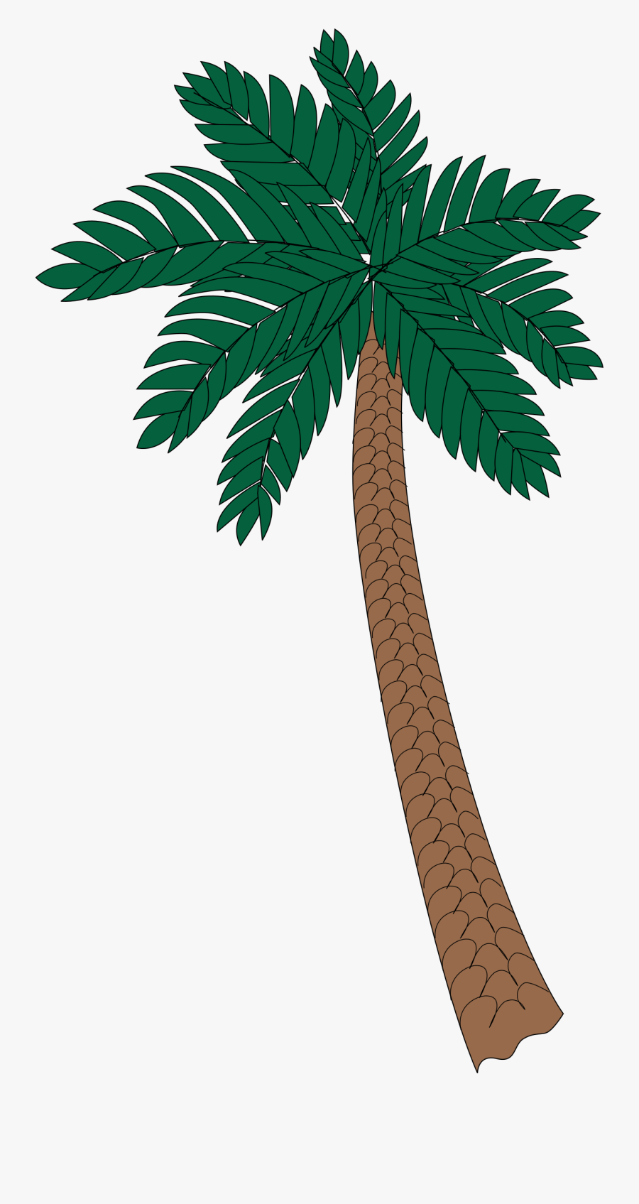 Palm Tree 2 Clip Arts - Kokospalme Png, Transparent Clipart