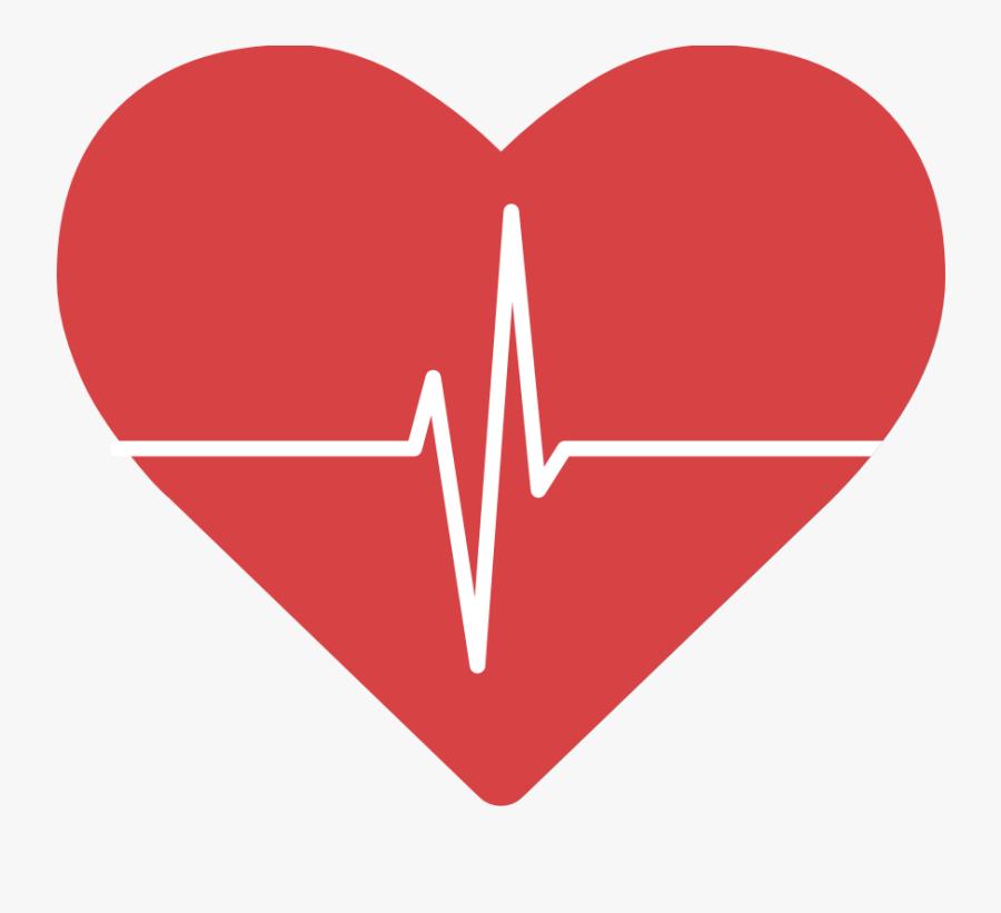 Heart Beat Logo Png, Transparent Clipart