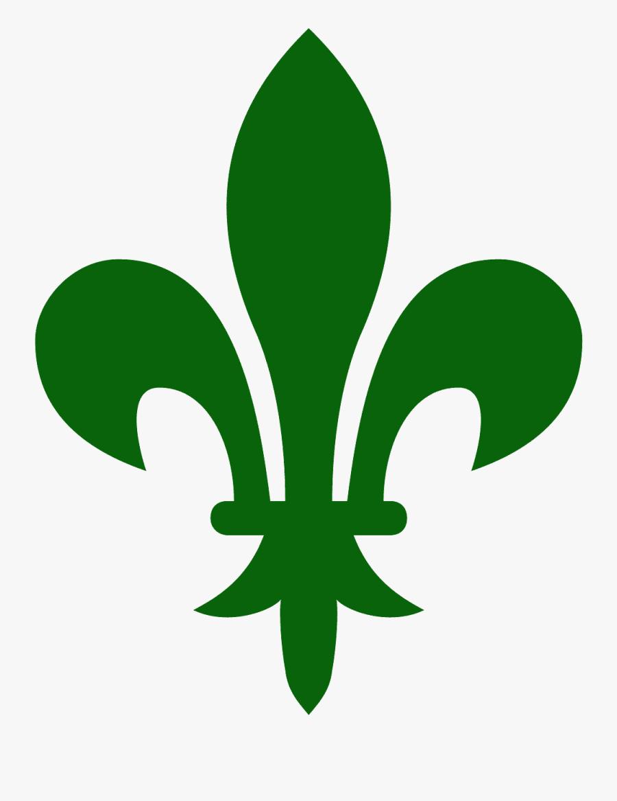 Fleur De Lys Green, Transparent Clipart