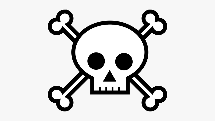 Pirate Sign - Draw Skull And Bones, Transparent Clipart
