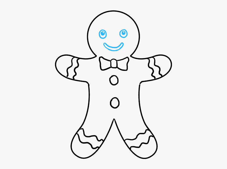 How To Draw Gingerbread Man - Easy Drawings Step By Step For Fortnite, Transparent Clipart