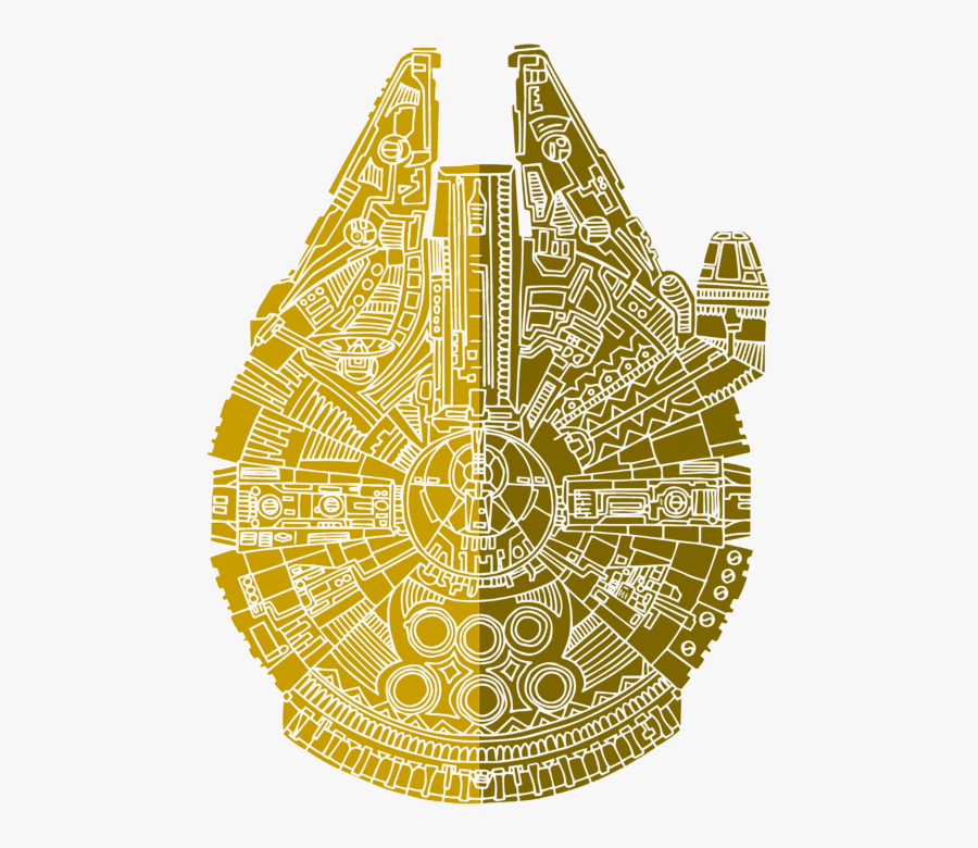 Millennium Falcon Star Wars Art, Transparent Clipart