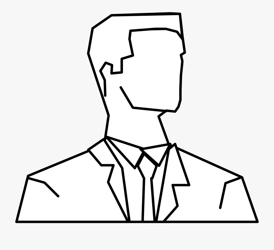 Collection Of Free Drawing Person Outline Download - Man Face Silhouette Outline, Transparent Clipart