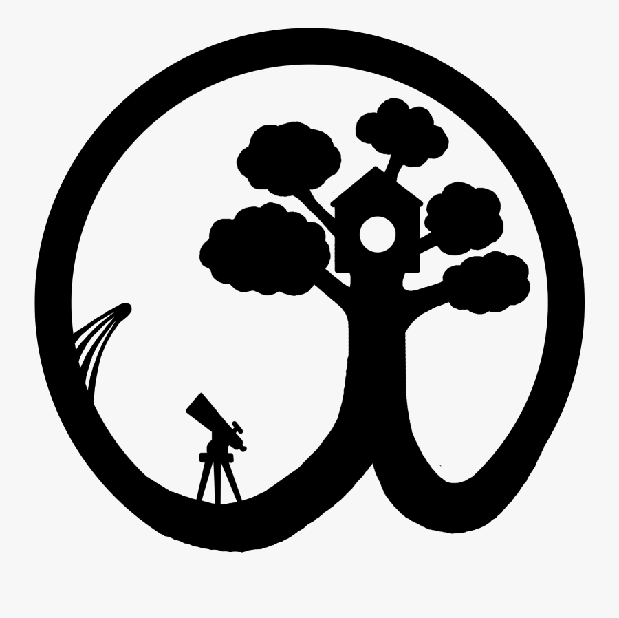 Free Black And White Treehouse Clipart, Transparent Clipart