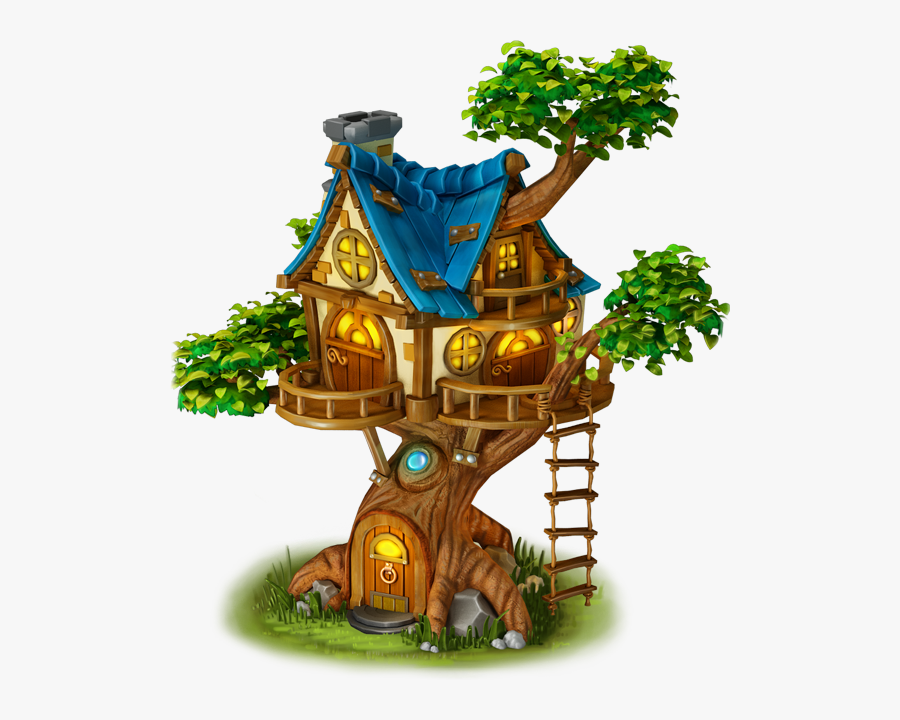 ##shoes #plant #bushes #flowers #steps #stairs #building - Tree House Cartoon Png, Transparent Clipart