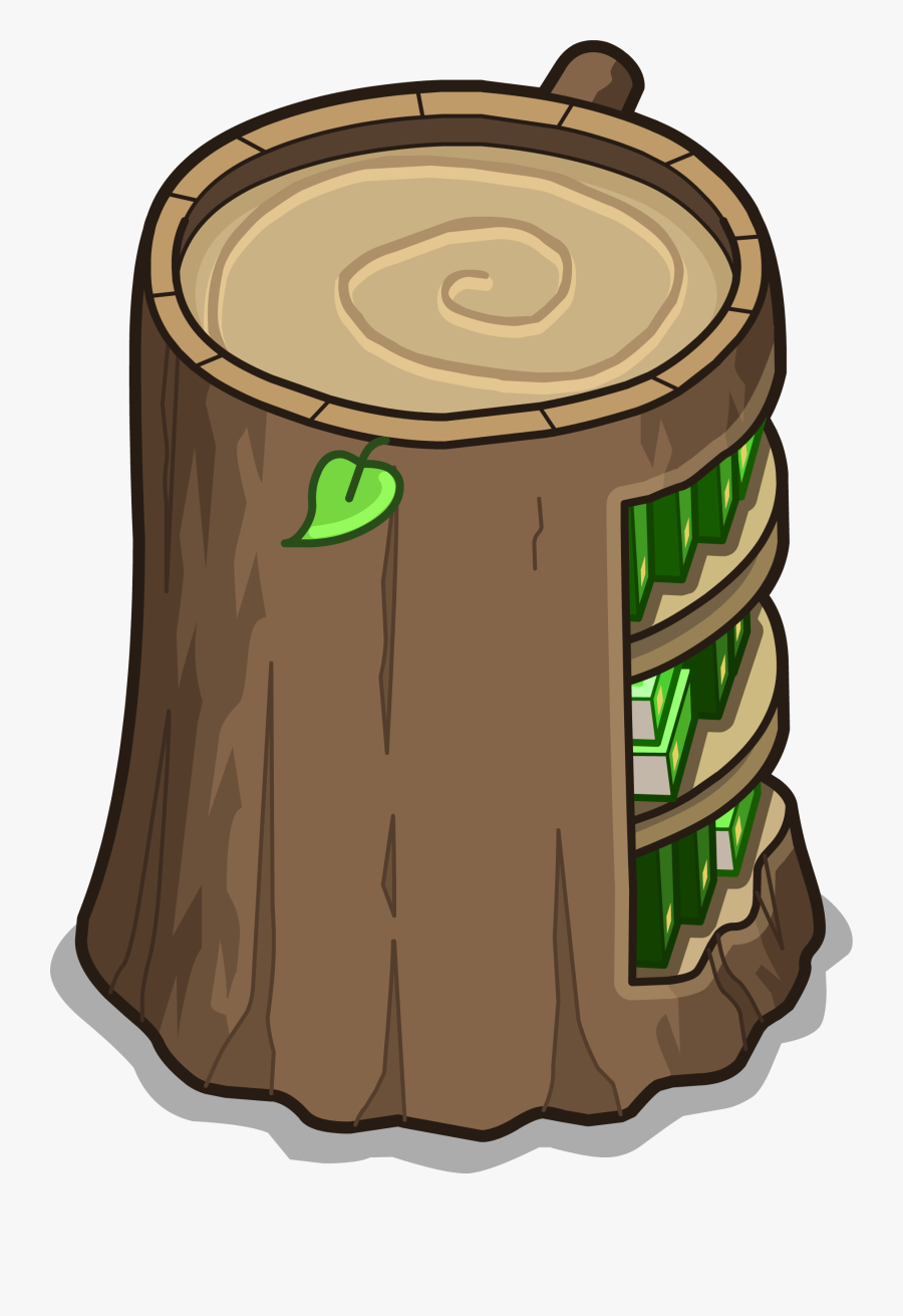 Stump Bookcase Sprite - Tree Stump, Transparent Clipart