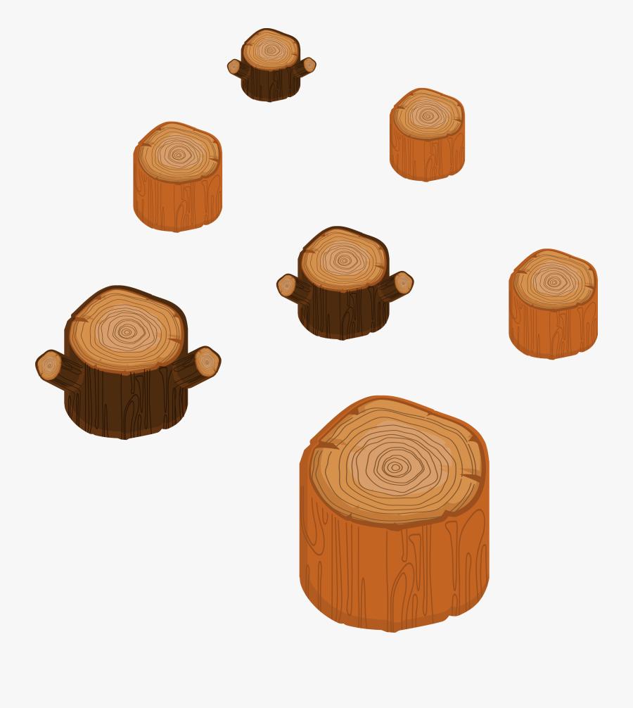 Wood Tree Stump Cartoon - Tree Stumpcartoon, Transparent Clipart